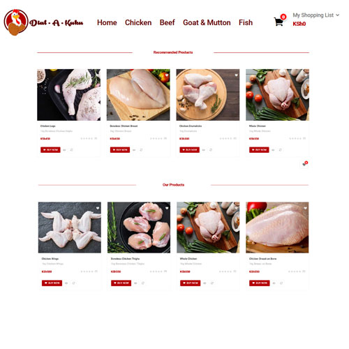 sell online shop for meat merchant dial a kuku
