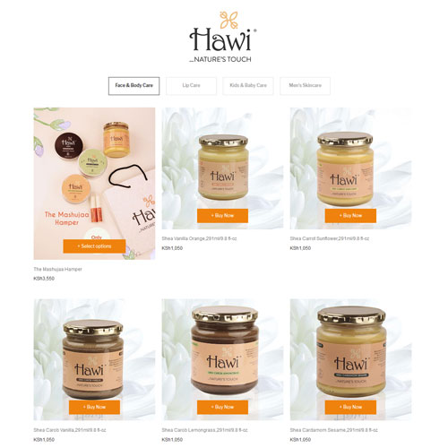 shea butter online shop for beauty products business Natures touch
