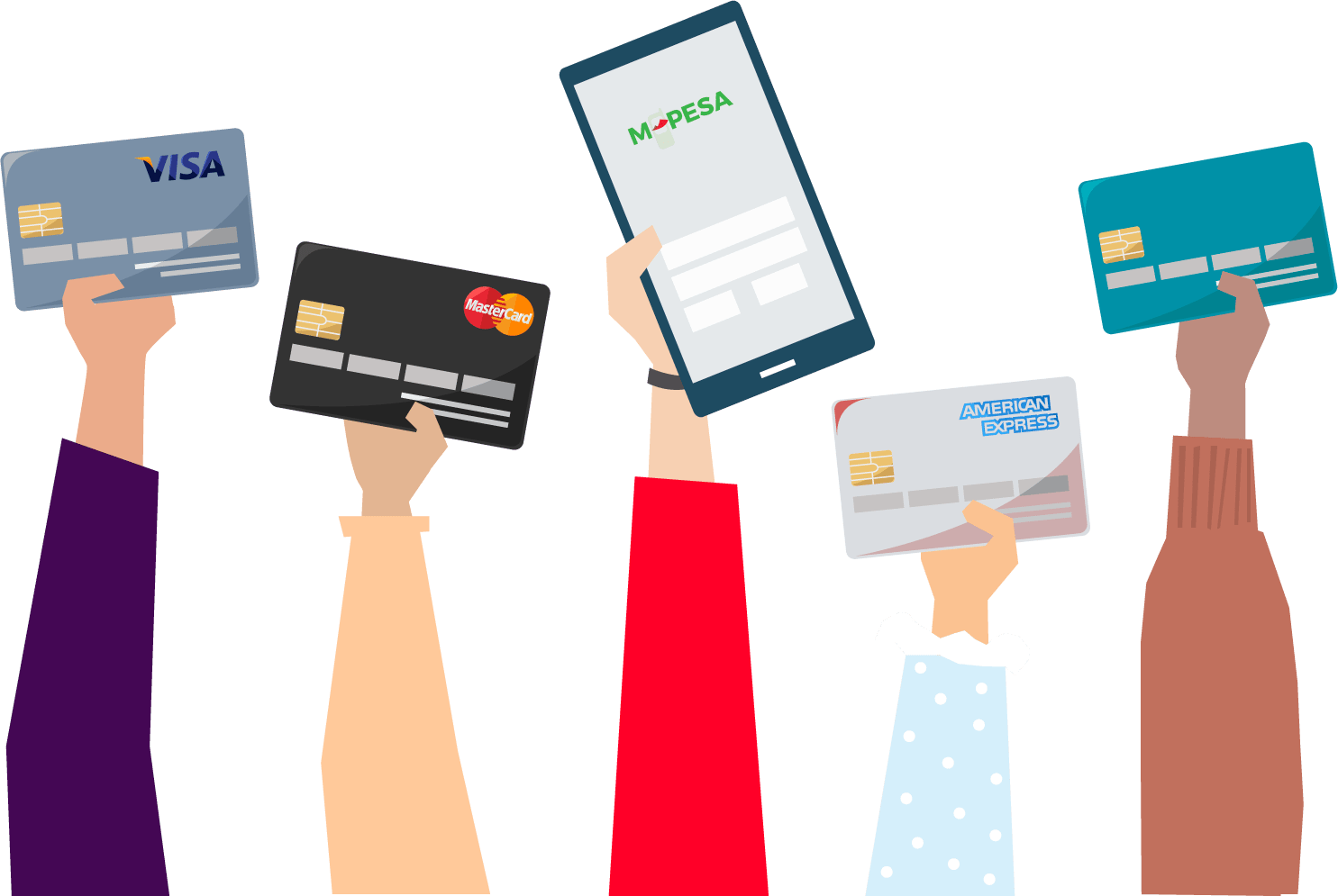 receive online and ecommerce payments across Africa on credit cards, debit cards, mobile money and banks